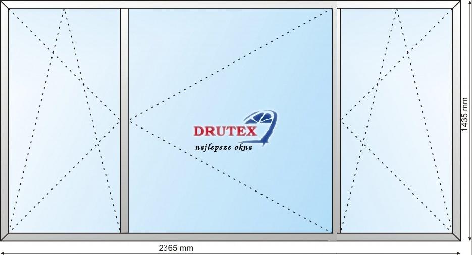 Masywnie DRUTEX OKNO PCV IGLO5 2365x1435 RU/R/UR :: DD COMPANY DRZWI - OKNA UI51