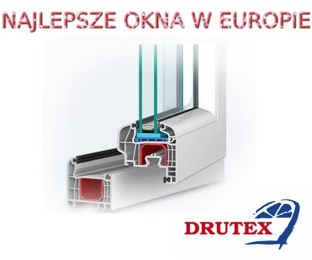 drutex okno pcv iglo5 5 komorowe wymiar dowolny dd company drzwi okna bramy. Black Bedroom Furniture Sets. Home Design Ideas