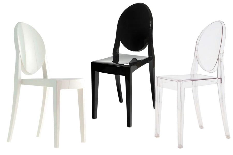 Modernistyczne Krzesło VICTORIA GHOST CZARNY POLIWĘGLAN :: DD COMPANY DRZWI QT39