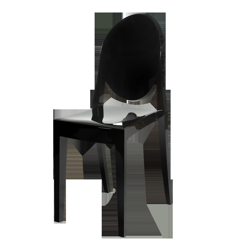 Cudowna Krzesło VICTORIA GHOST CZARNY POLIWĘGLAN :: DD COMPANY DRZWI KY44