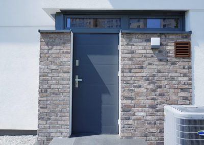 Drzwi wejściowe grafitowe