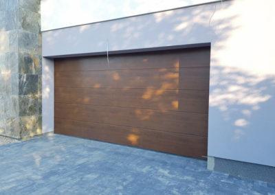 Brama garażowa panel brązowy