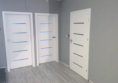 Drzwi wewnętrzne ze szkłem